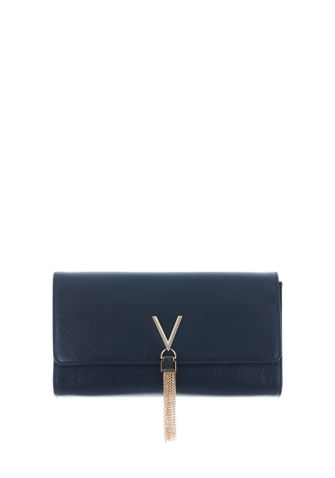 extremely unique rational construction forefront of the times Valentino By Mario Oboe Clutch Bag, Navy