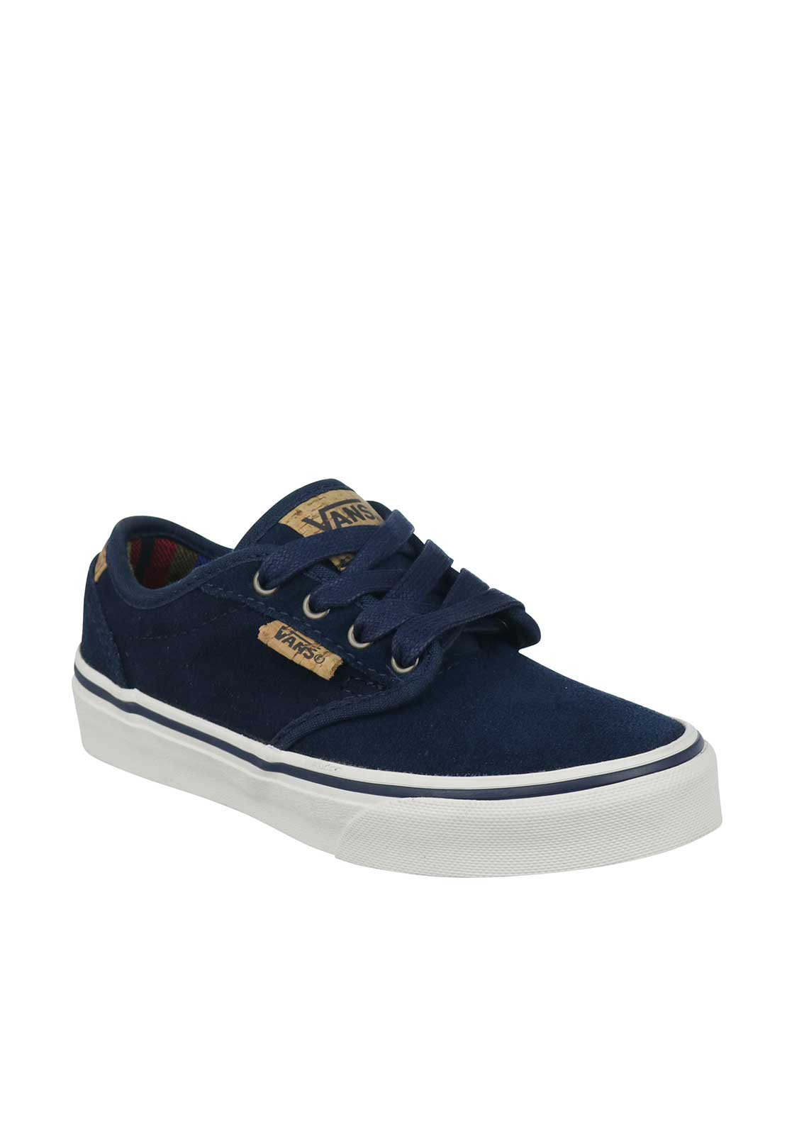 Vans Boys Suede Trainers, Navy