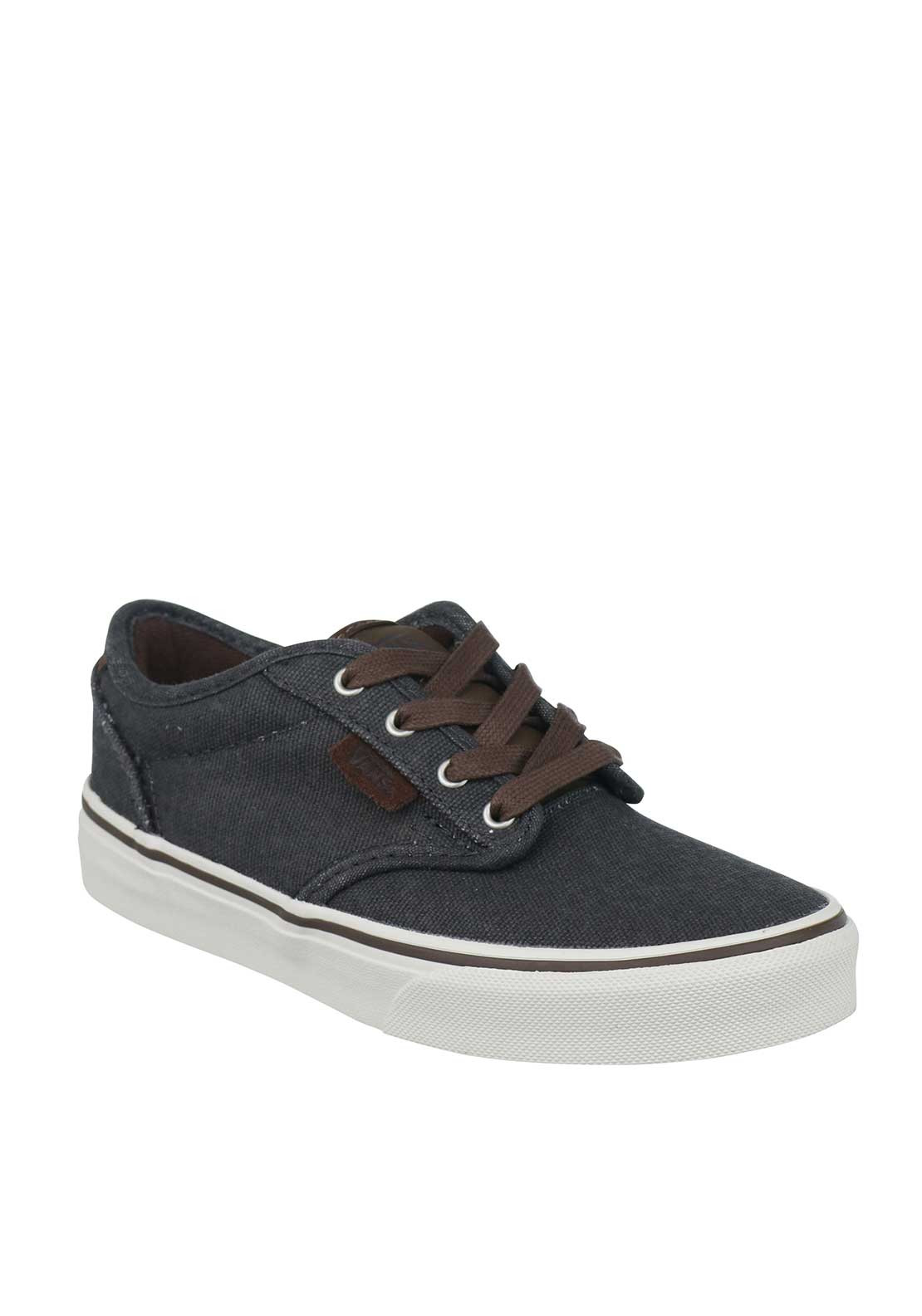 Vans Boys Authentic Canvas Trainers, Grey