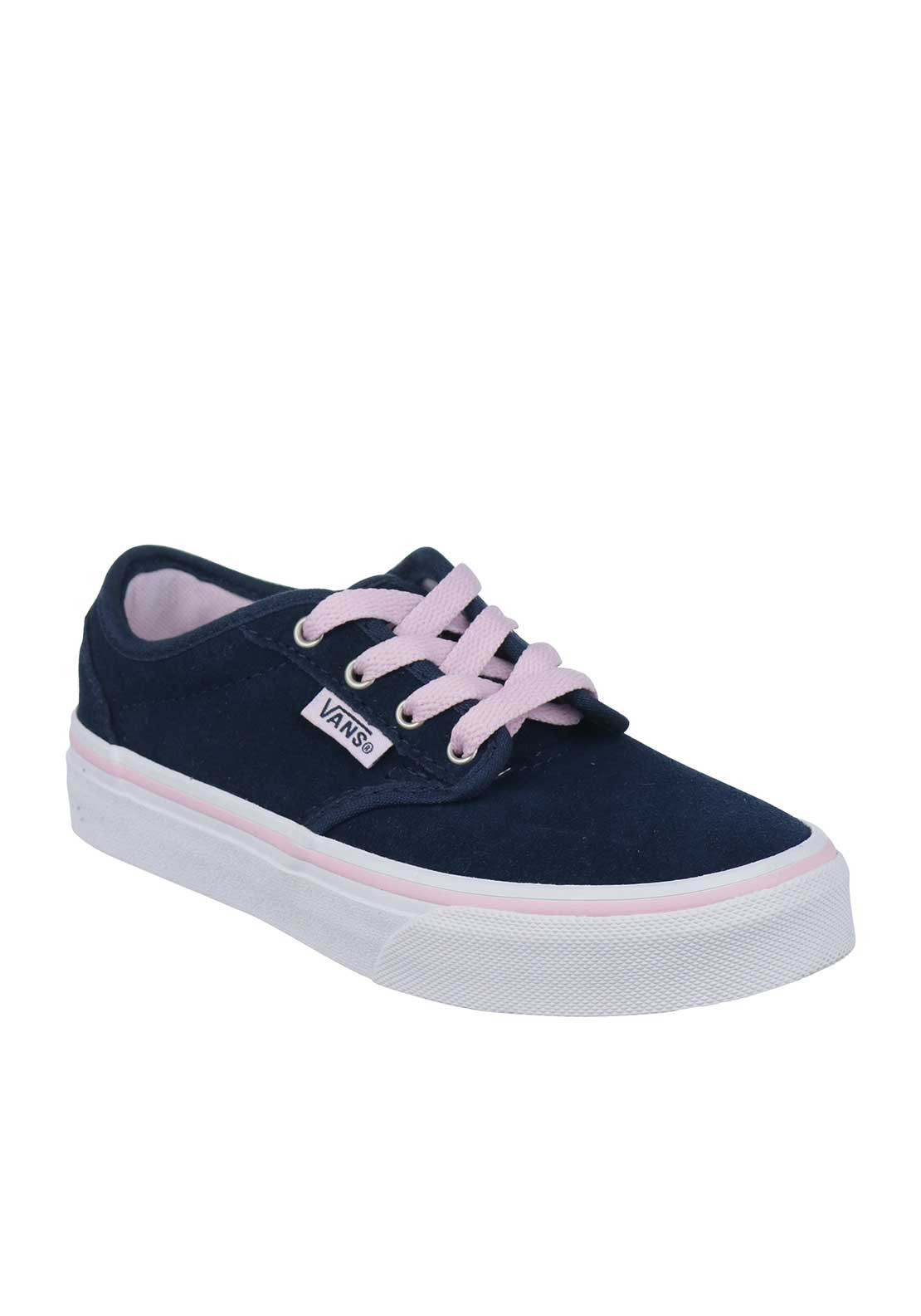 Vans Girls Suede Trainers, Navy