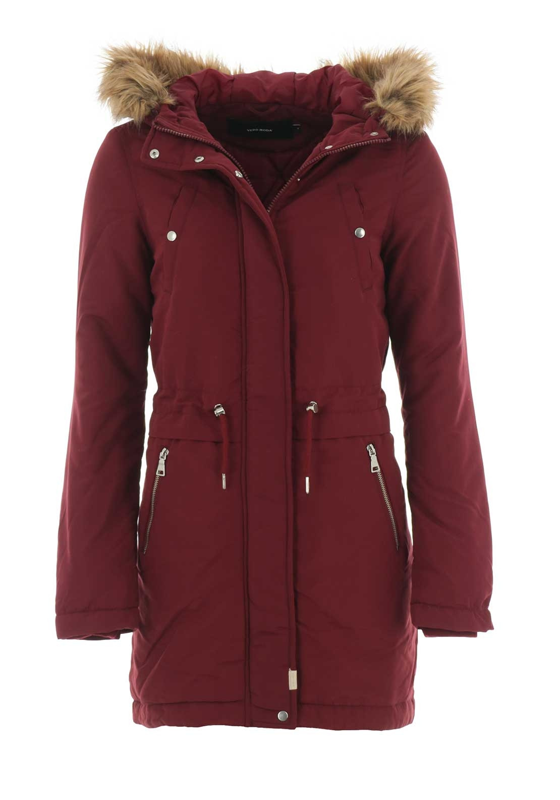 vero moda agnes parka jacket wine mcelhinneys. Black Bedroom Furniture Sets. Home Design Ideas