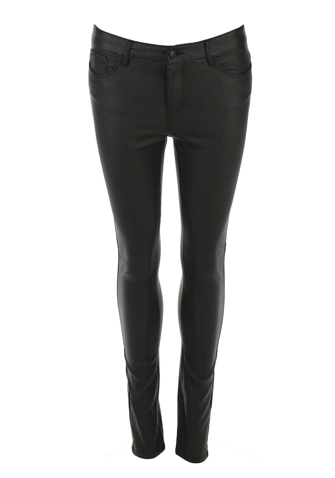 Vero Moda Seven Coated Skinny Jeans, Brown