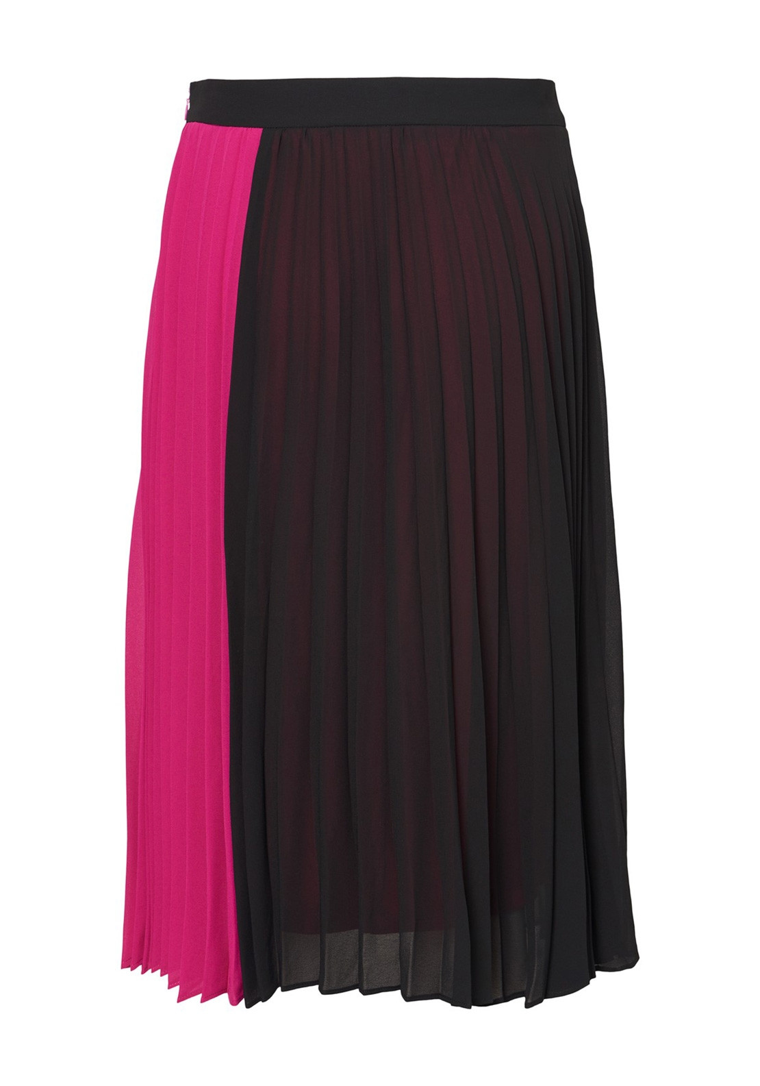 8d6983242c Vero Moda Sol Pleated Midi Skirt, Black and Pink | McElhinneys