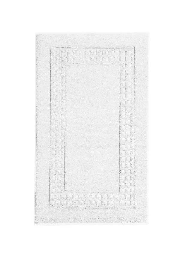Vossen Country Large Bath Mat, White