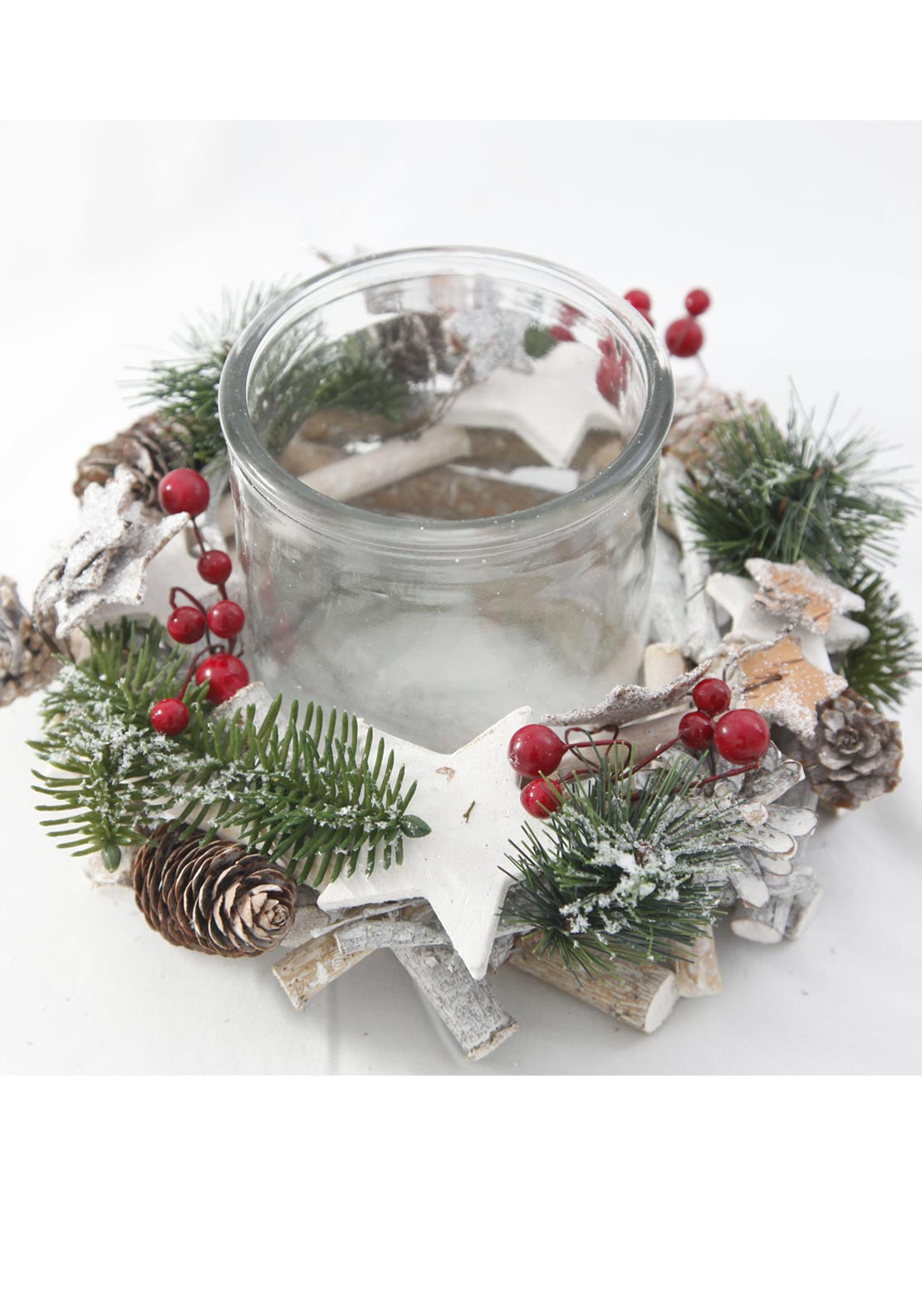Verano Christmas Round Candle Table Centre Piece