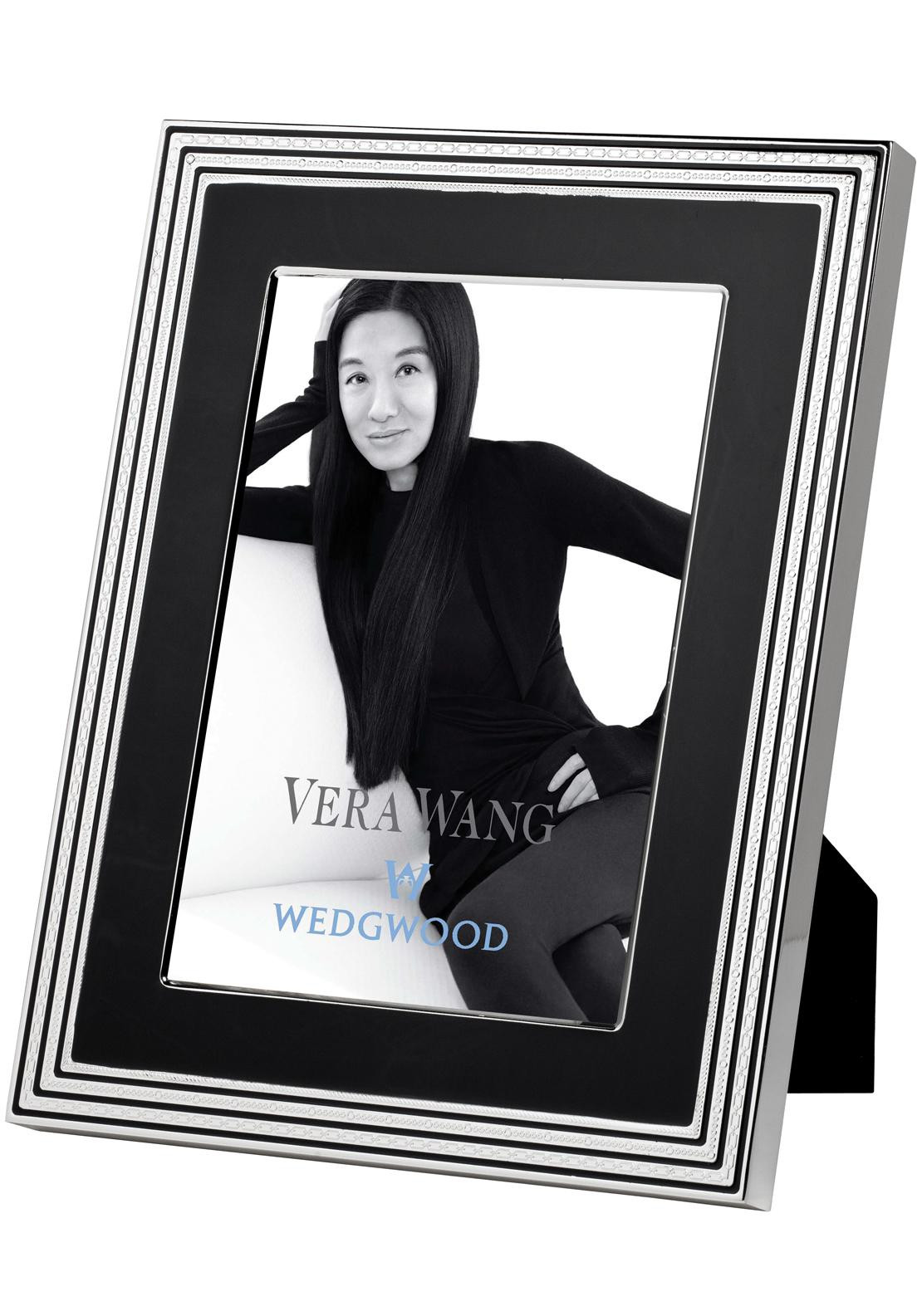 Vera Wang Wedgwood With Love Noir Photo Frame, 4 x 6 inches