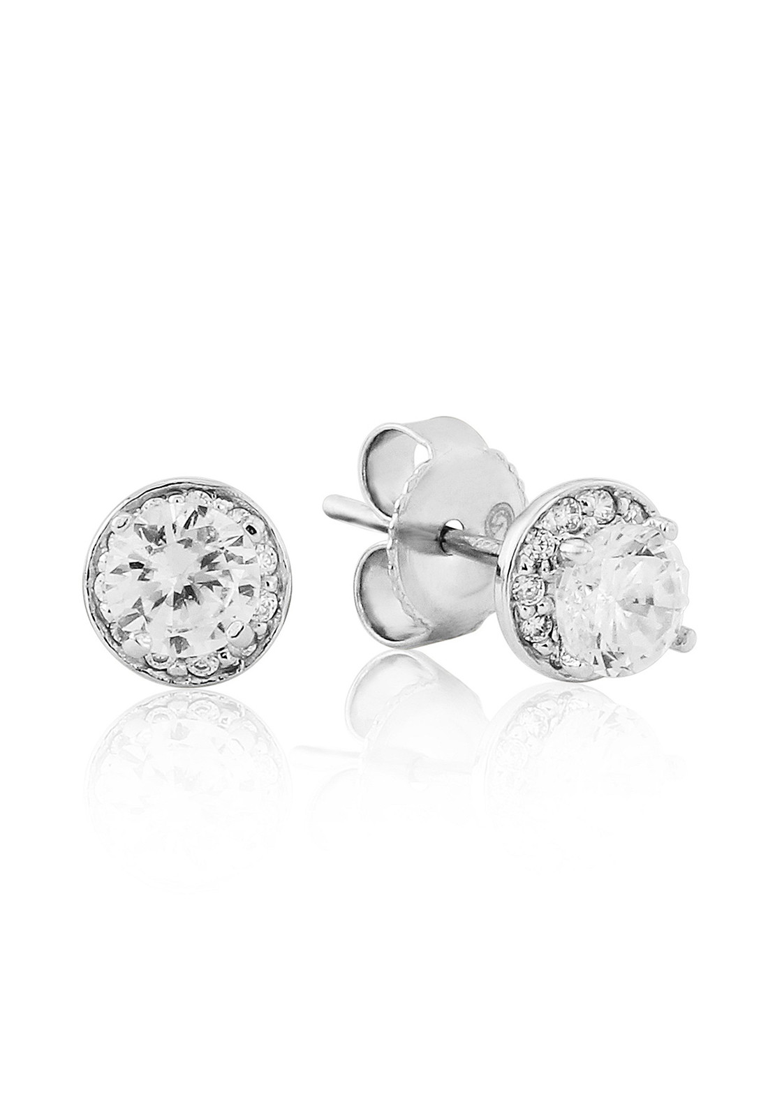 Waterford Crystal Pave Stud Earrings, Silver