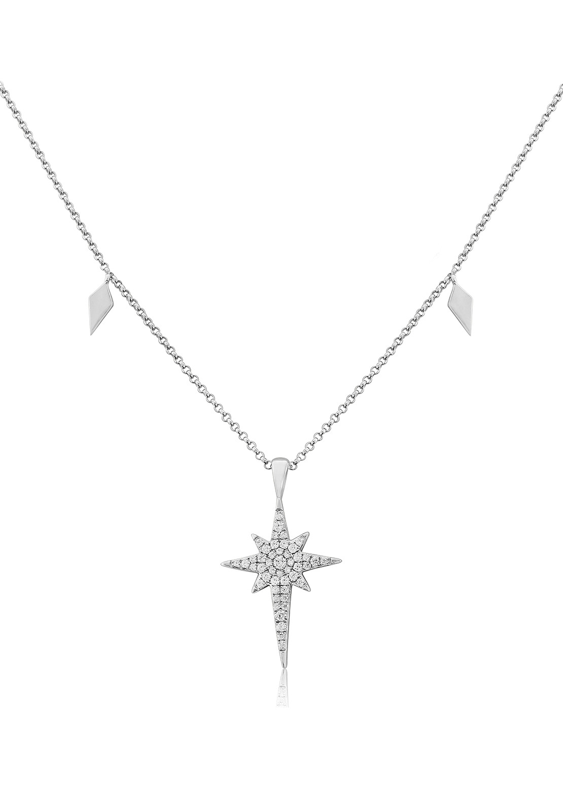 Waterford Crystal Star Pendant Necklace, Silver