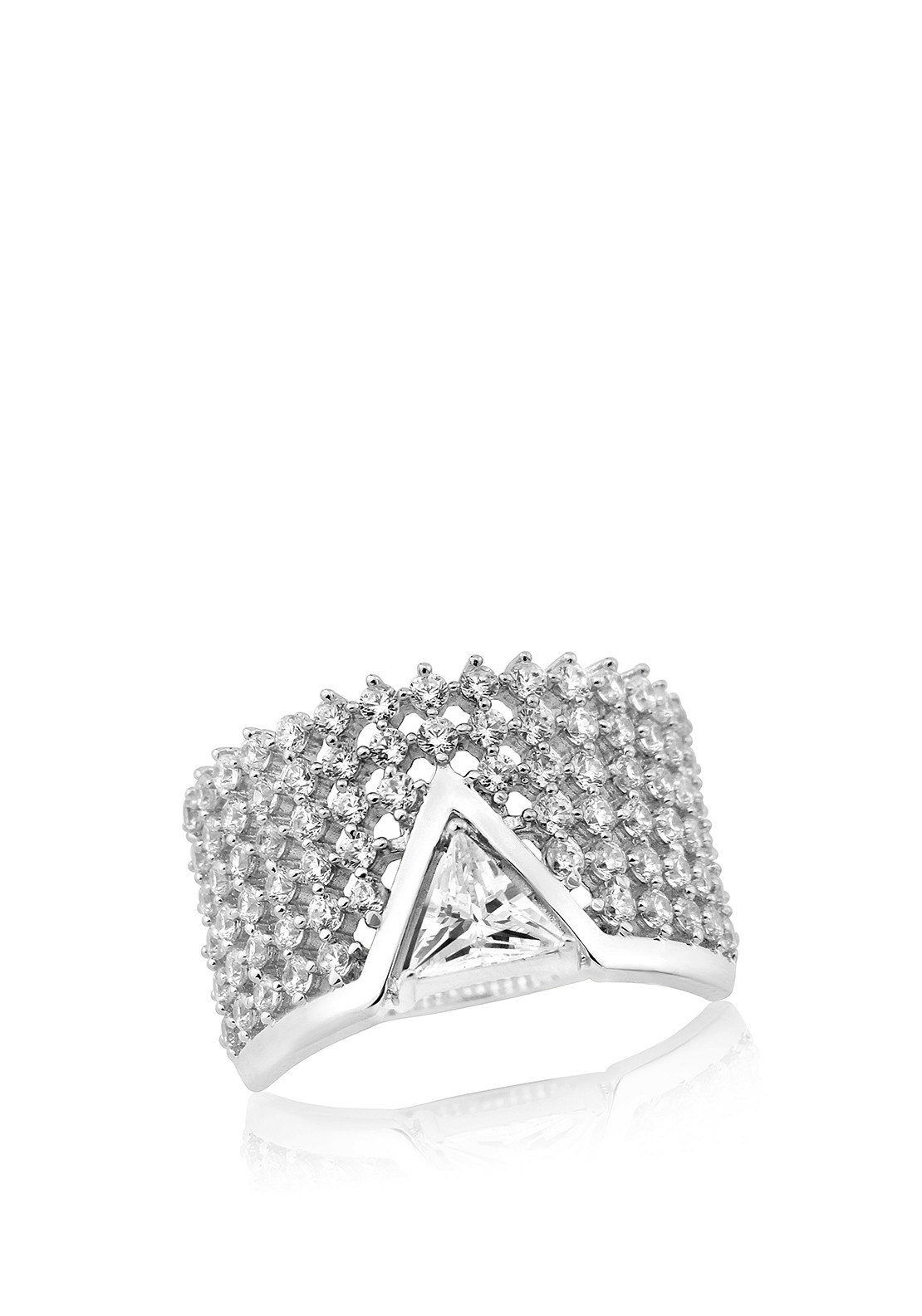 Waterford Crystal Pave Stack Ring, Silver