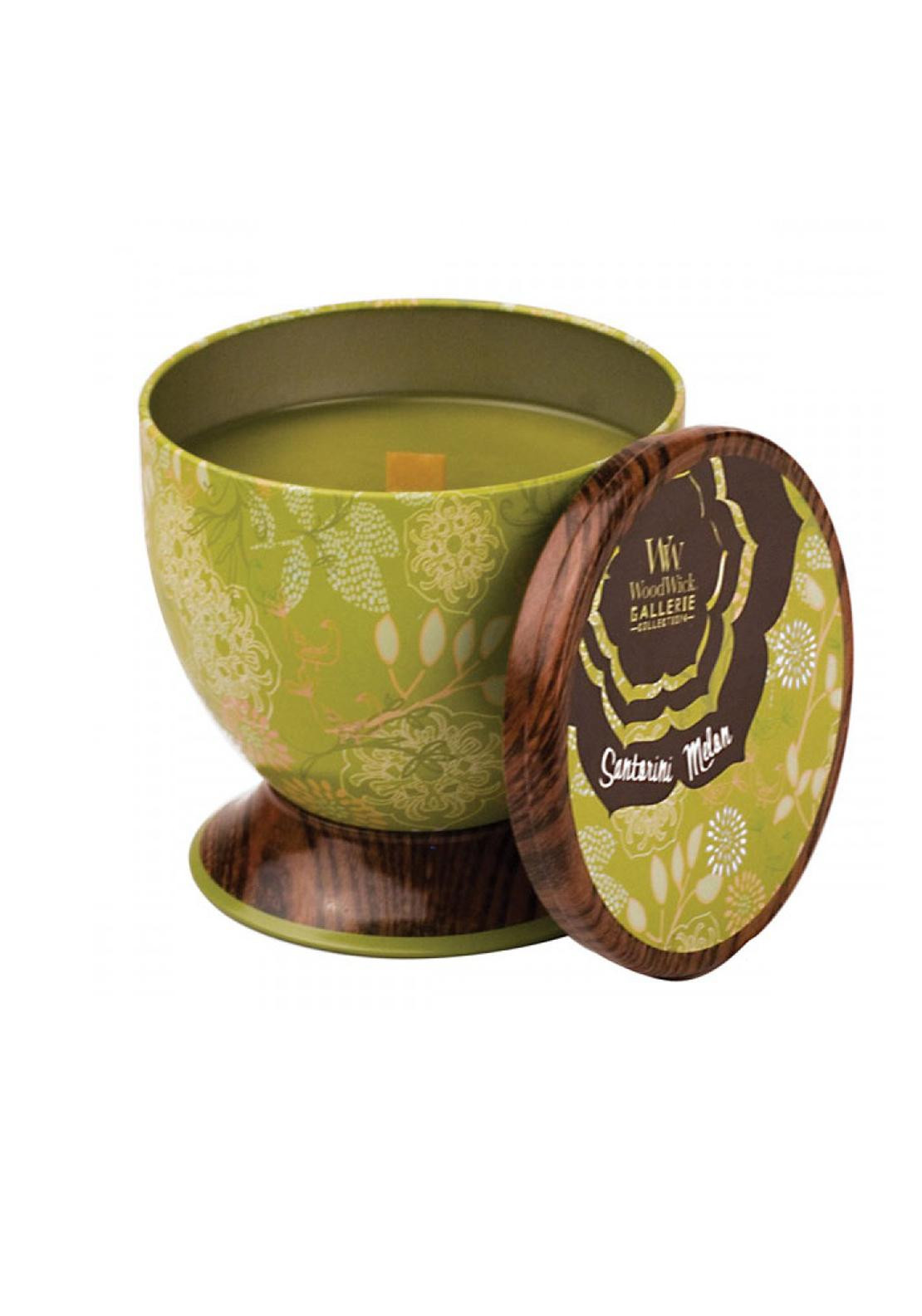 Woodwick Gallerie Collection, Scented Candle, Santorini Melon