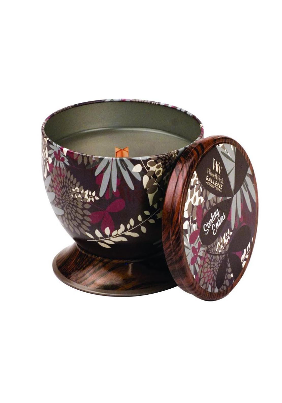 Woodwick Gallerie Collection, Scented Candle, Sterling Embers