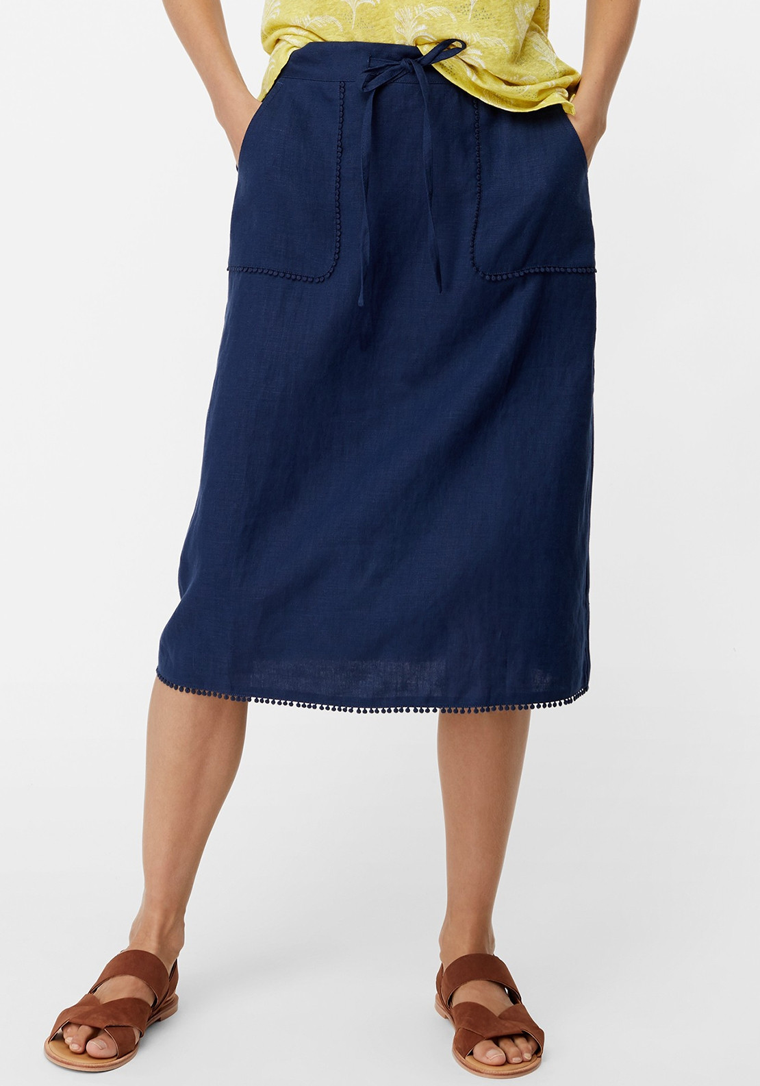 8547ab5fb545 White Stuff Portia Linen Skirt, Enso Navy. Be the first to review this  product
