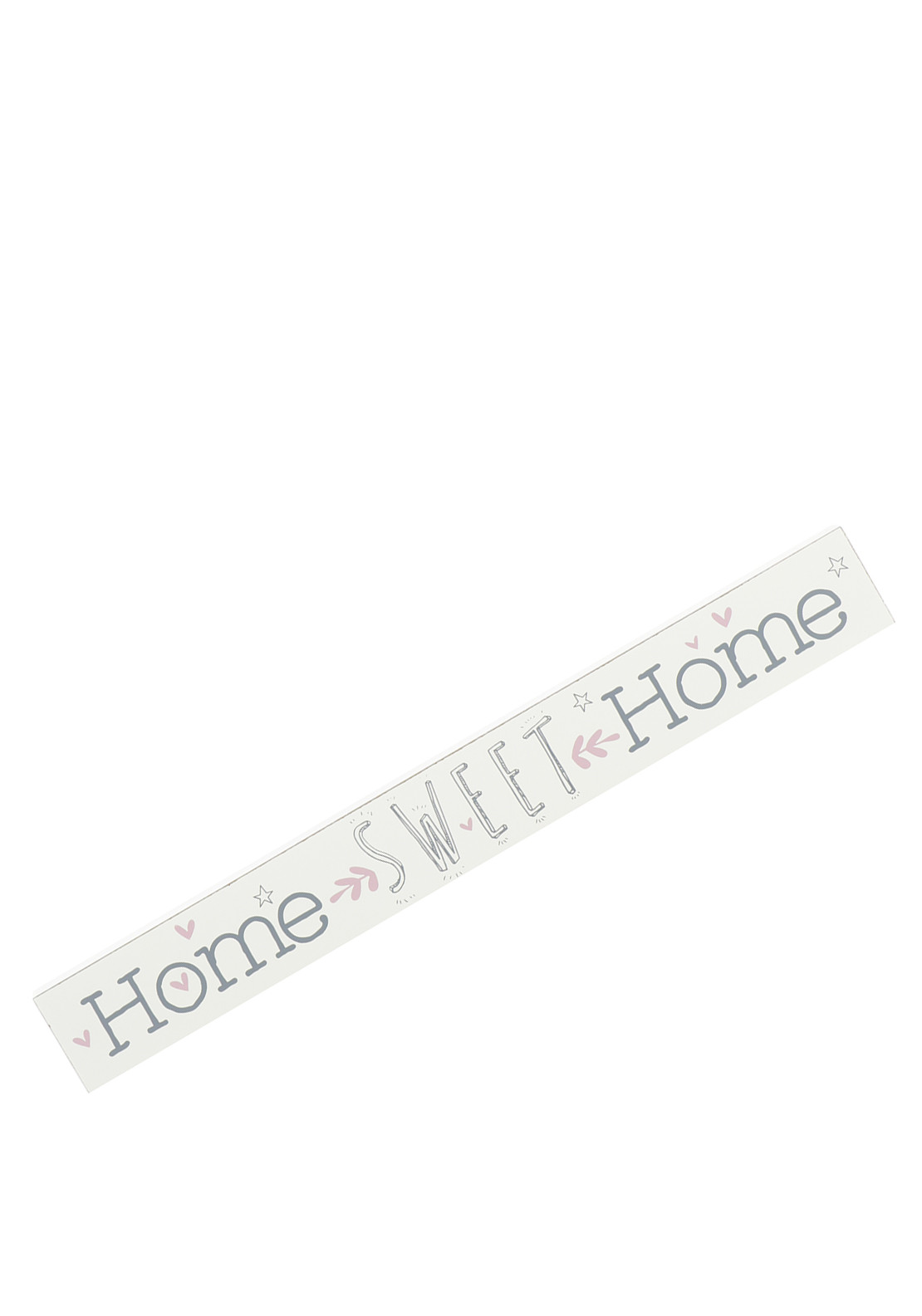 Love Life Wooden Plaque Home Sweet Home, Cream