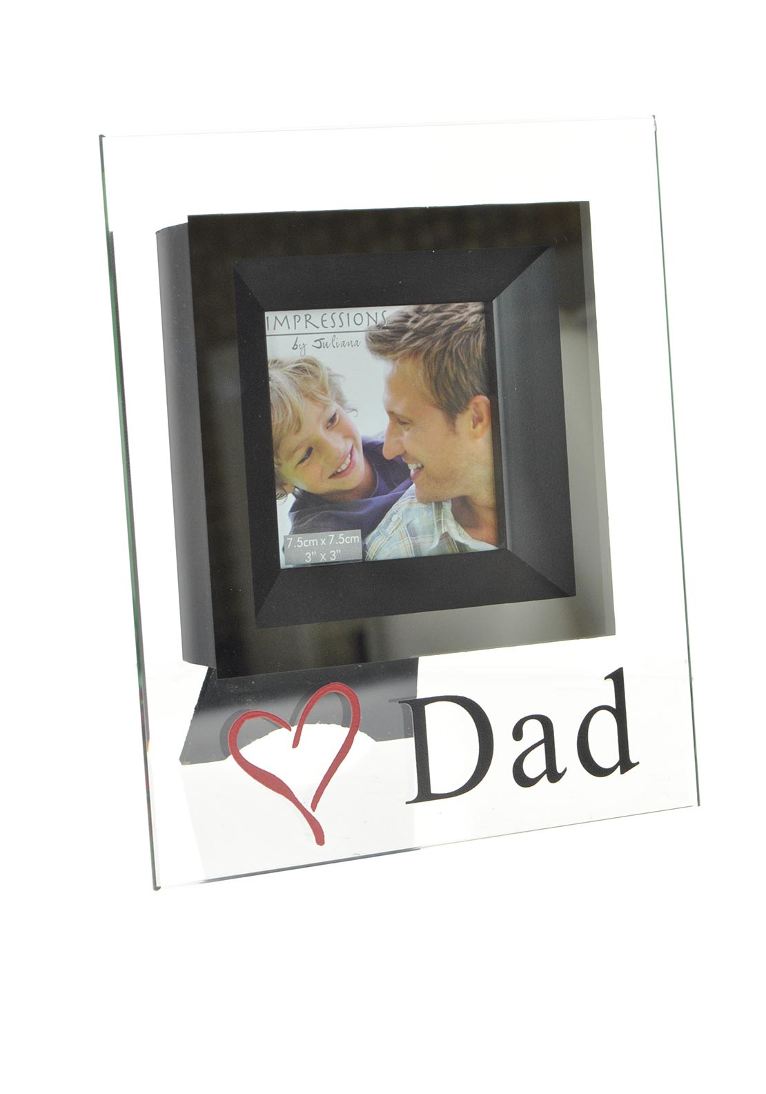 Widdop & Bingham Glass Photo Frame for Dad's, 7.5 x 7.5cm