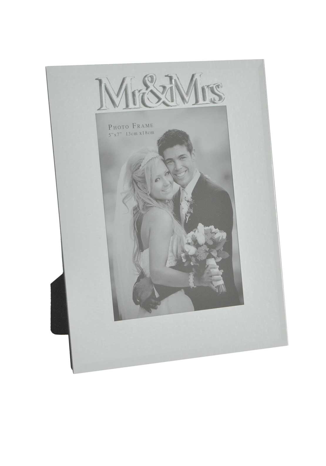 "Impressions by Juliana Mirrored Mr & Mrs Photo Frame, 5"" x 7"""
