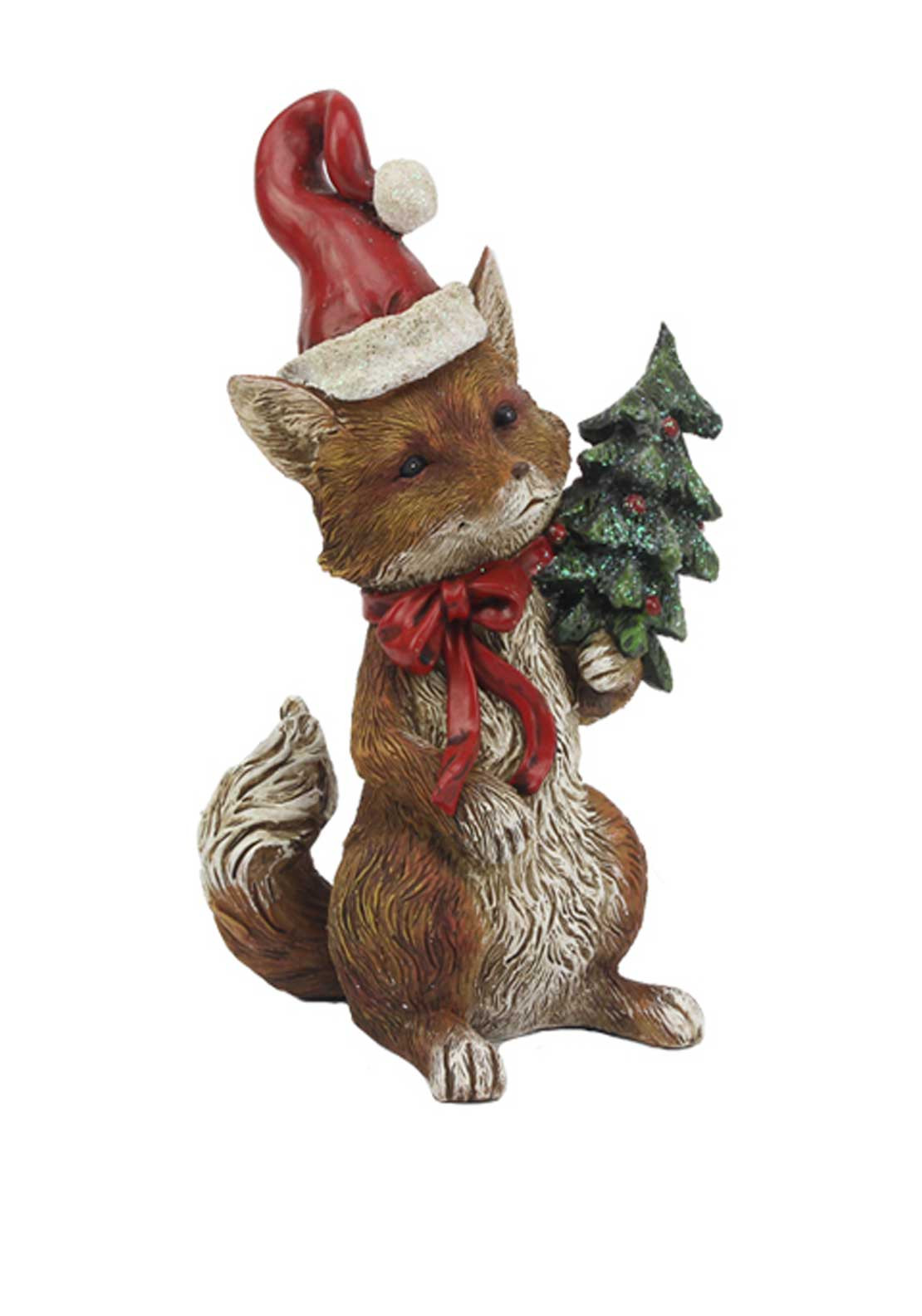 Willow Brooks Christmas Fox with Tree Ornament
