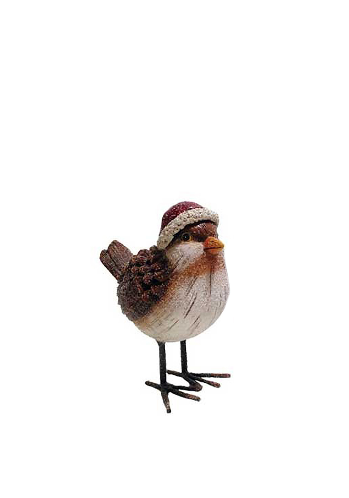 Willow Brooks Winter Holly Christmas Robin with Santa Hat