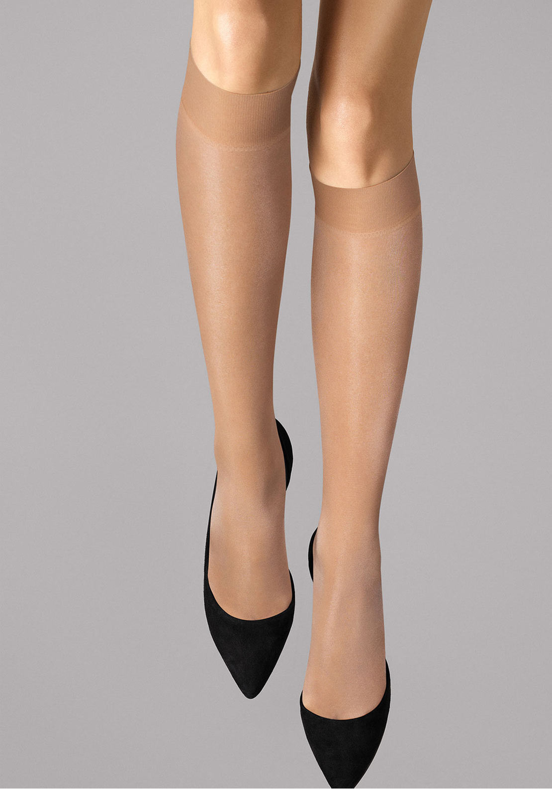 Wolford Satin Touch 20 Knee High Tights, Gobi
