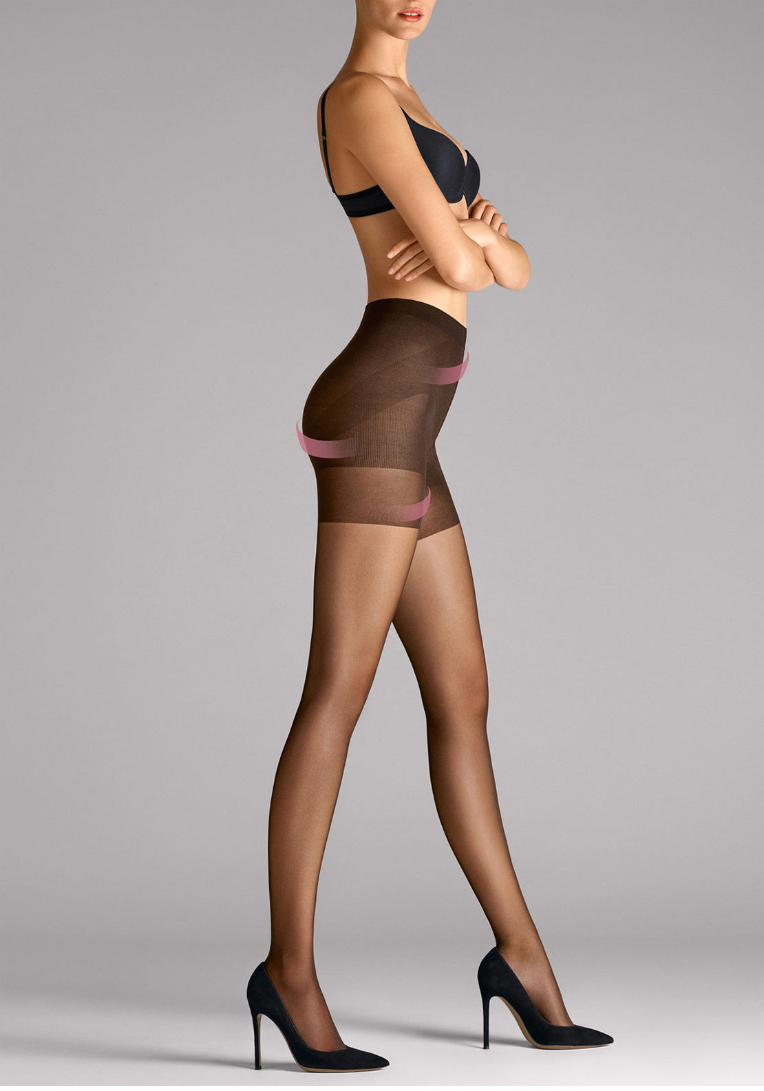 Wolford Synergy 20 Push Up Sheer Tights, Gobi