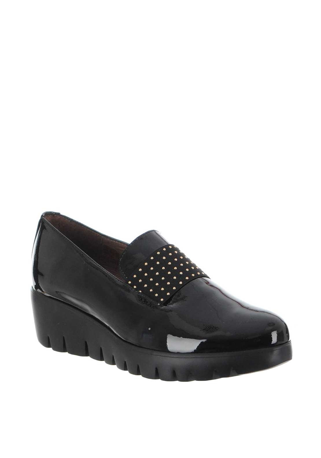 246454f1d94 Wonders Patent Leather Loafer Shoes