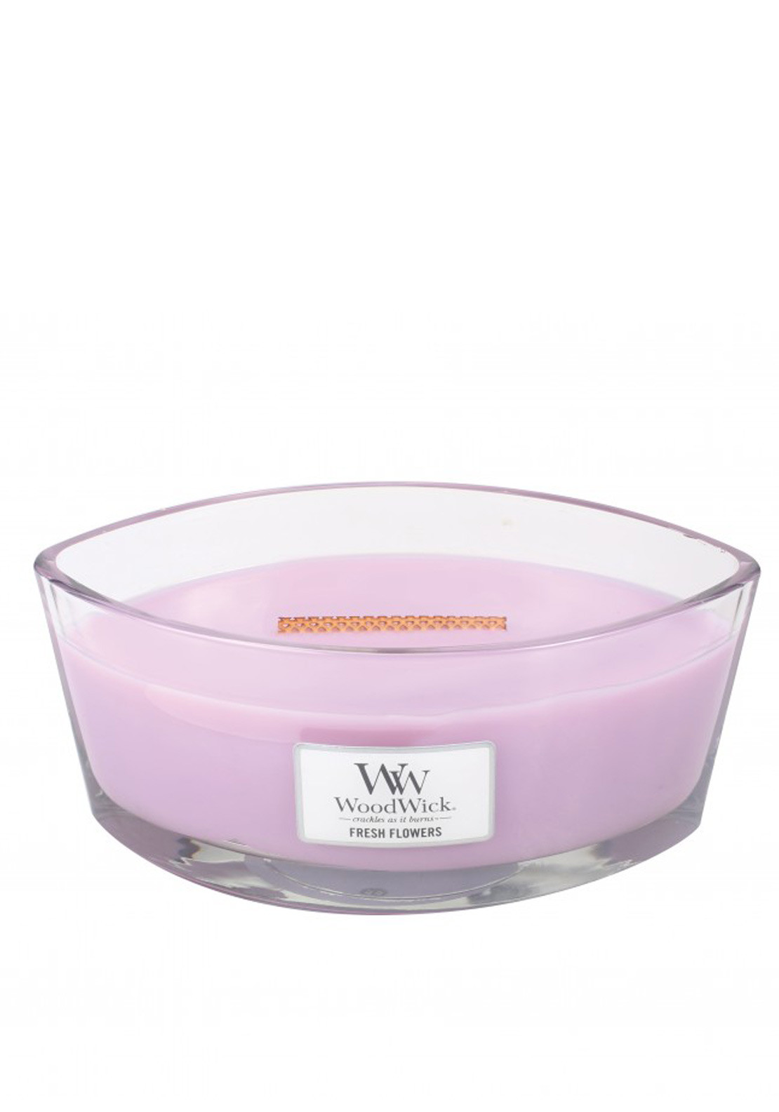 WoodWick Hearthwick Flame Large Candle, Fresh Flowers