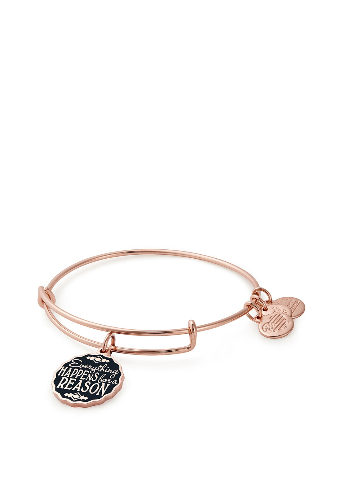 9c2246e305074 Alex and Ani Everything Happens For A Reason Charm Bangle, Rose Gold