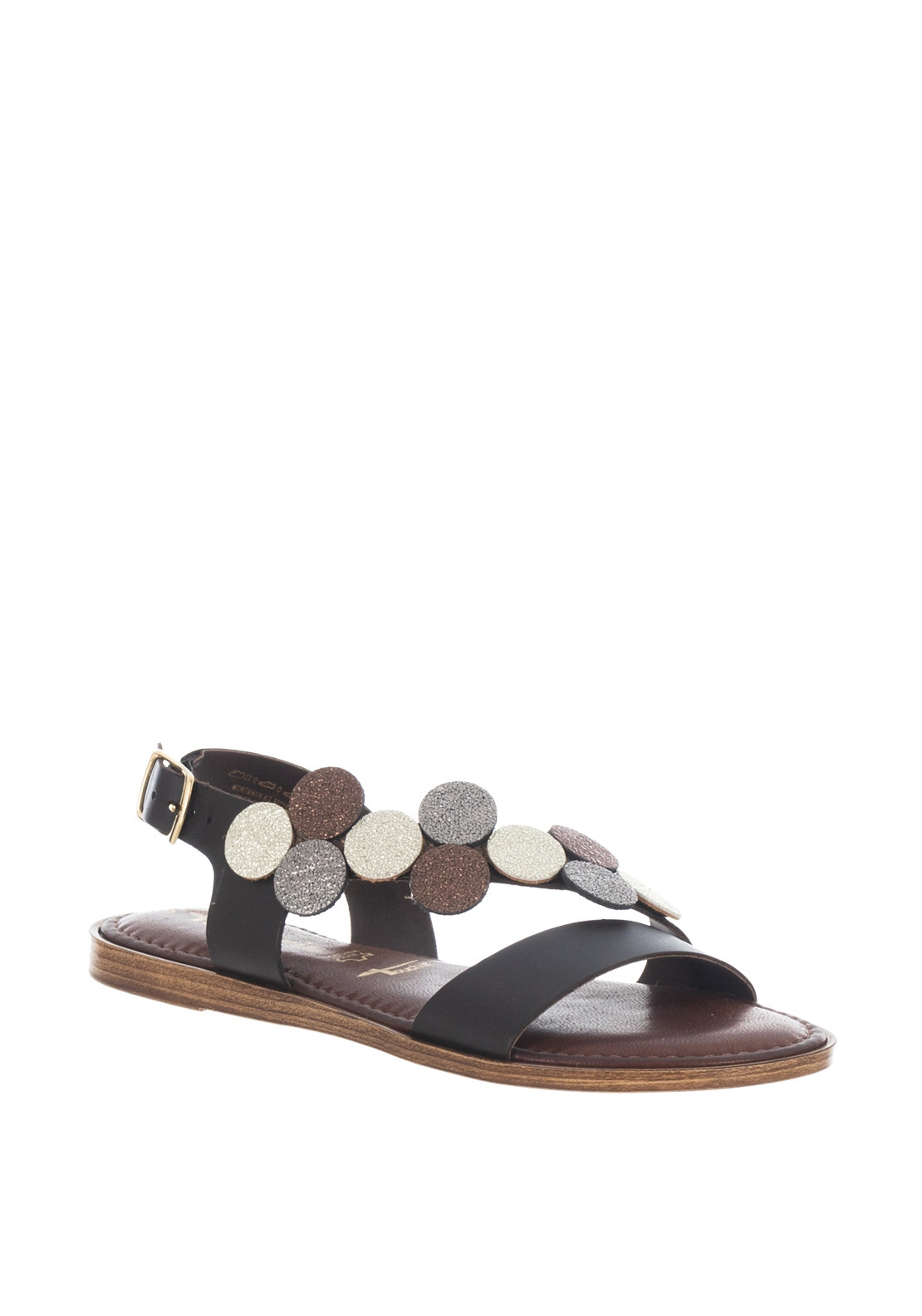 SandalsBrown Cut Out Disc Tamaris Leather bI7vgyYf6
