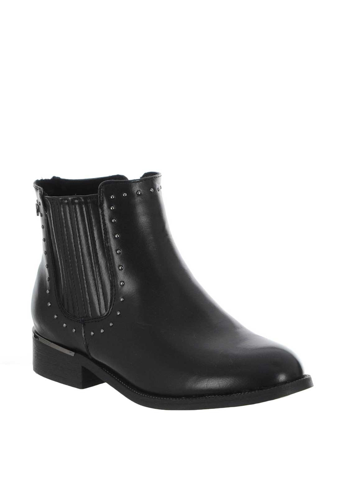 newest professional luxuriant in design Xti Womens Stud Trim Chelsea Boots, Black
