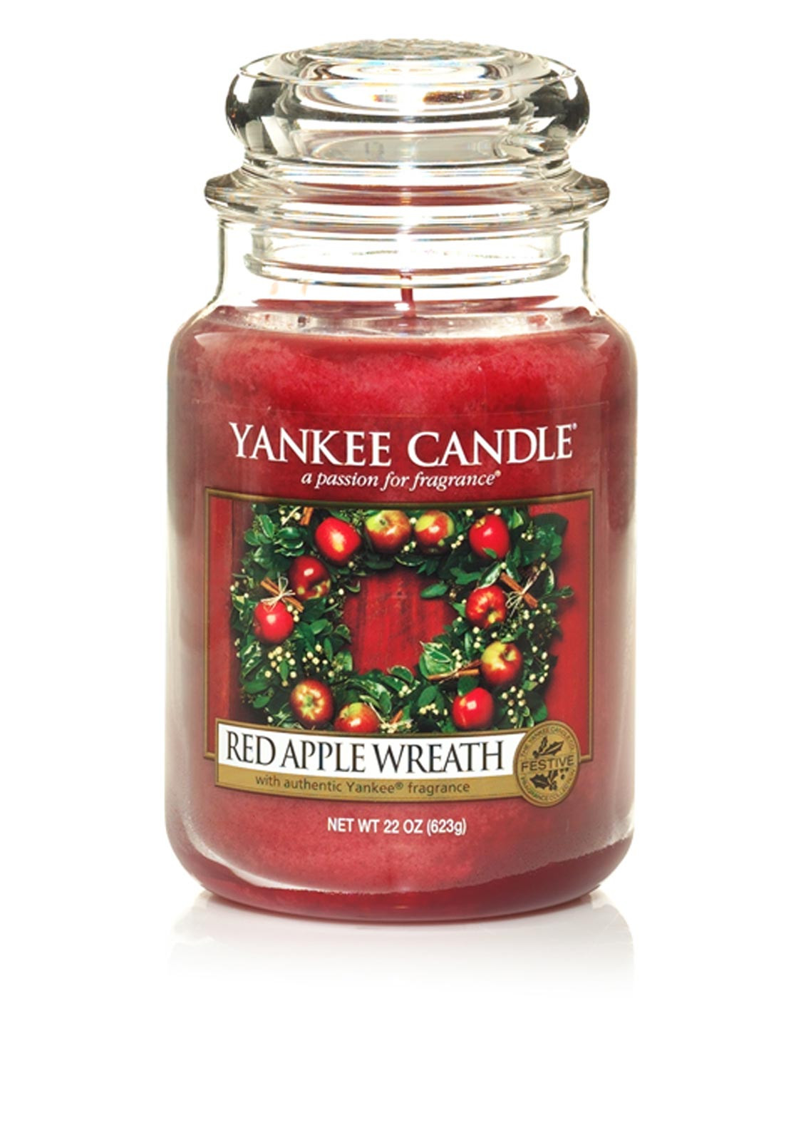 Yankee Candle Large Classic Jar, Red Apple Wreath