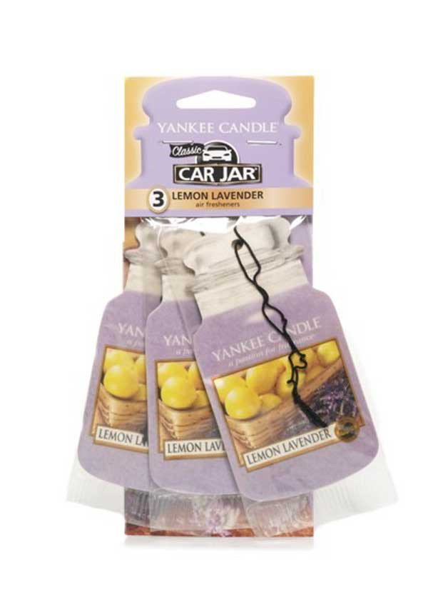 Yankee Candle Car Jar 3 pack, Lemon Lavender