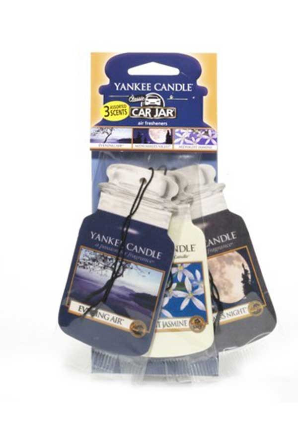 Yankee Candle Car Jar 3 pack Assorted Air fresheners, Evening Stroll