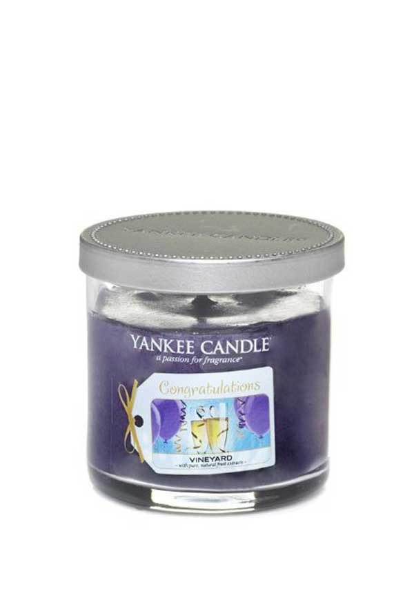 """Yankee Candle """"Congratulations"""" Small Candle, Vineyard"""
