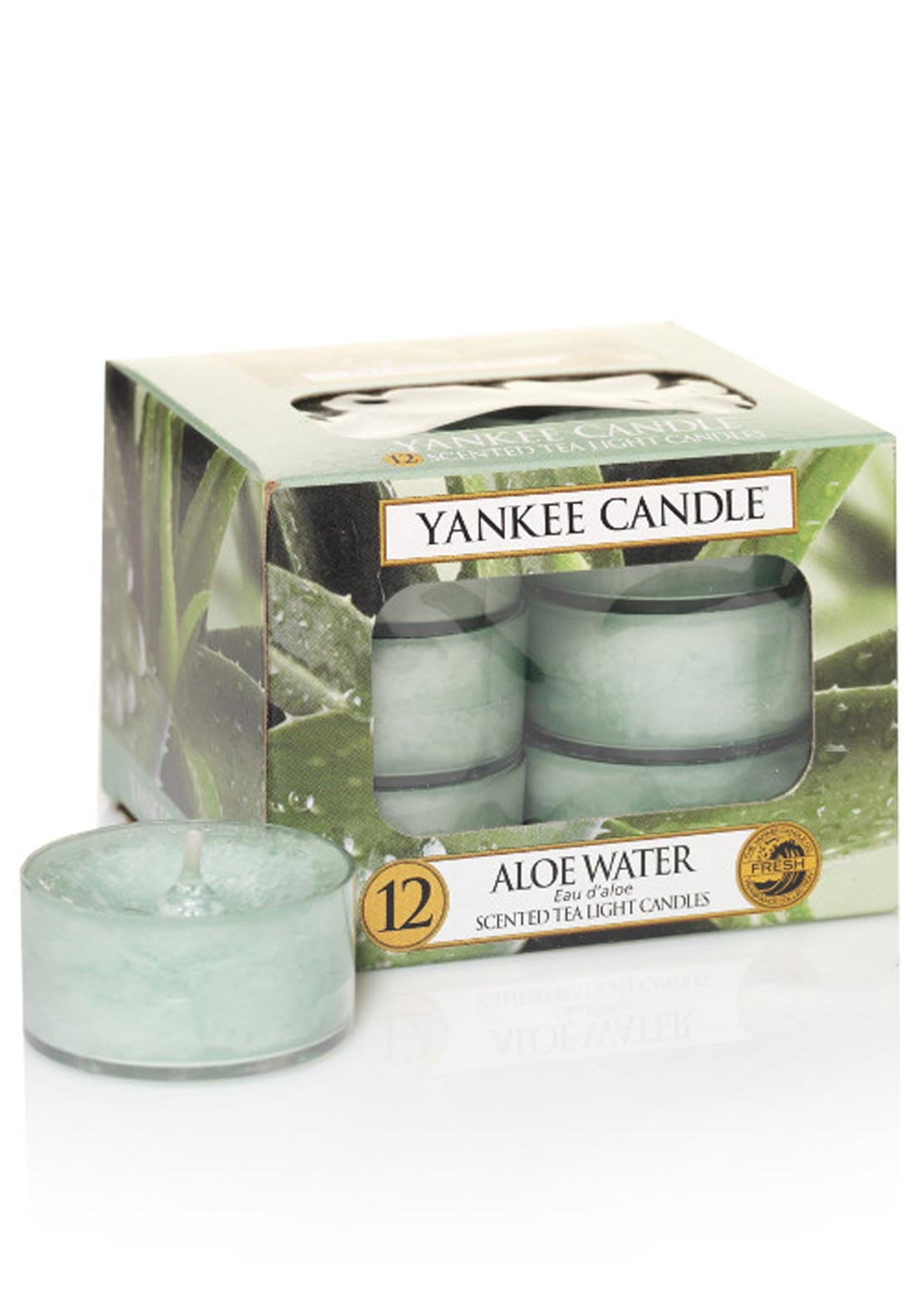 Yankee Candle 12 Scented Tea Light Candles, Aloe Water