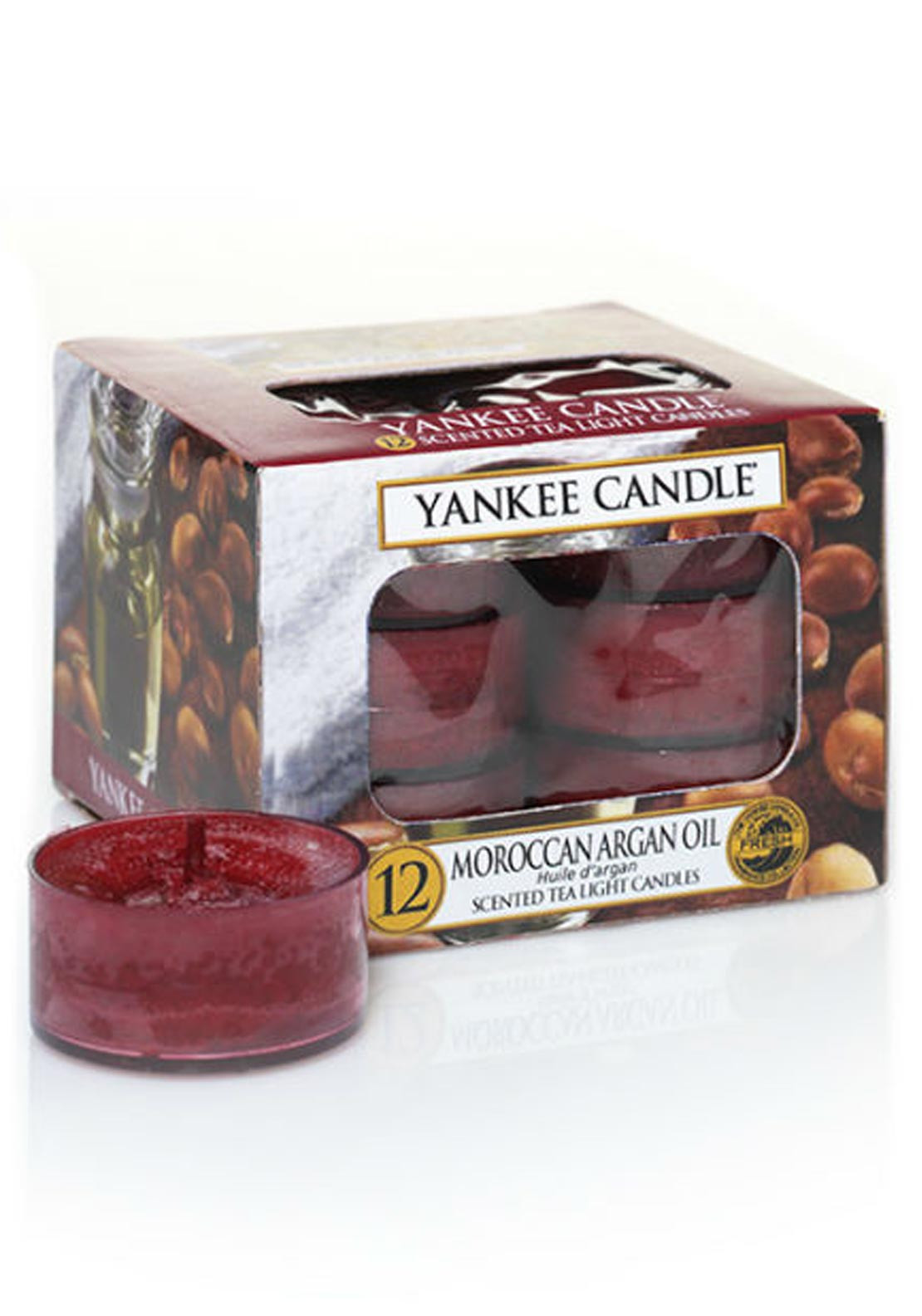 Yankee Candle 12 Scented Tea Light Candles, Moroccan Argan Oil