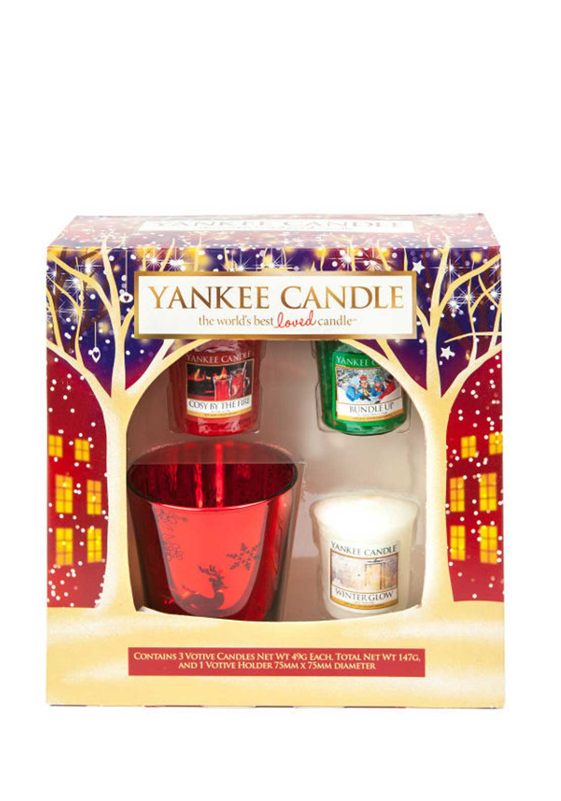 Yankee Candle Three Votive & Votive Holder Giftset
