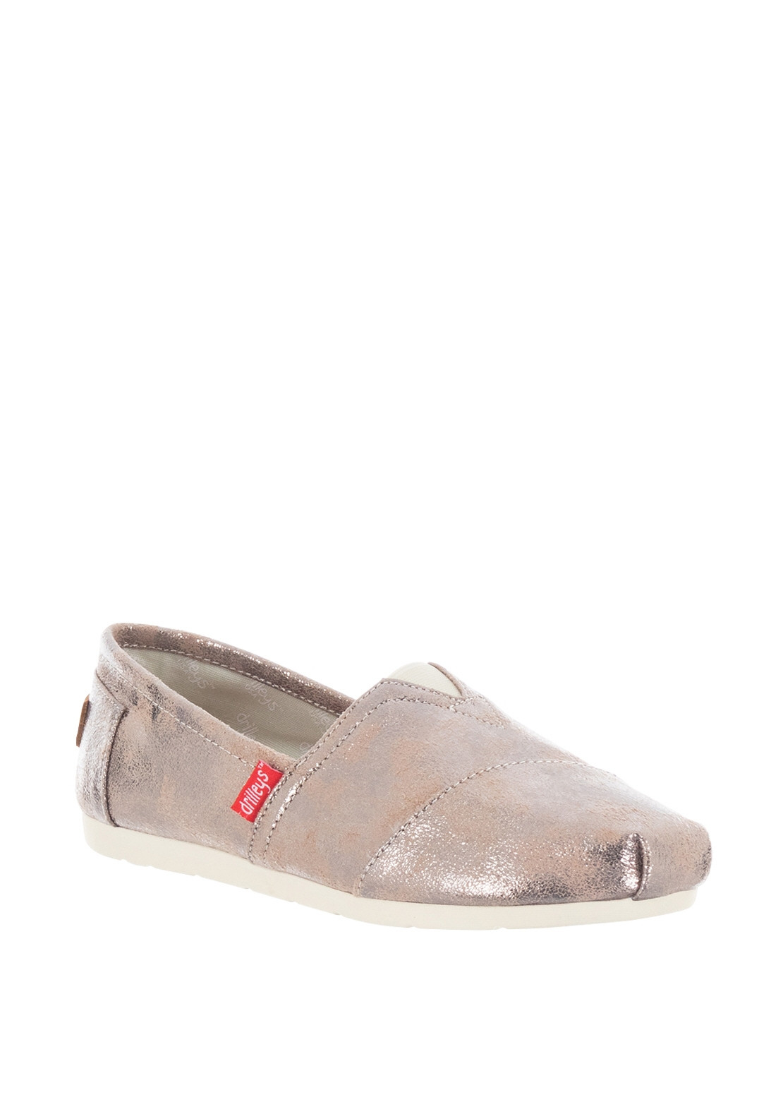 07de02a21ea0ec Zanni Drilleys Wash Canvas Slip on Shoes, Bronze | McElhinneys