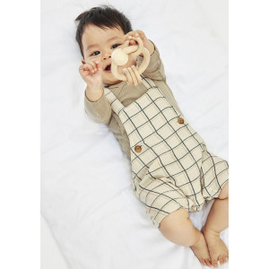 Name It Baby Boys Henry Overall Shorts, Beige