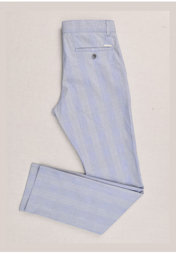 One Varones Boys 05043 Check Trousers, Blue