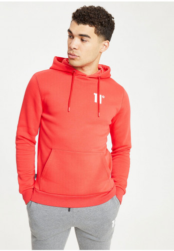11 Degrees Core Pull Over Hoodie, True Red