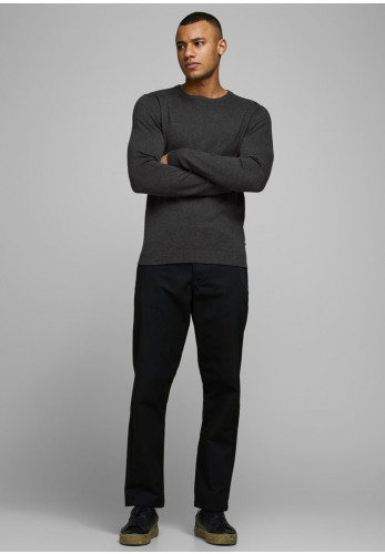 Jack & Jones Basic Knit Crew Neck Sweater, Dark Grey