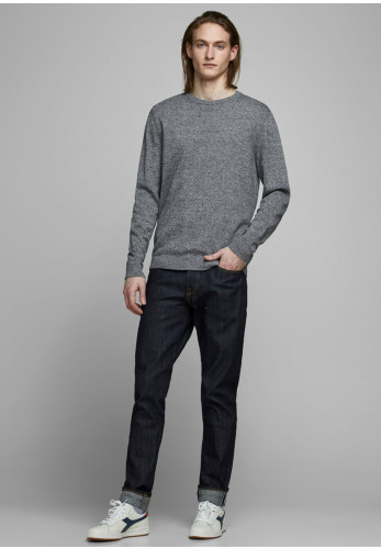 Jack & Jones Basic Knit Crew Neck Sweater, Twisted Jet