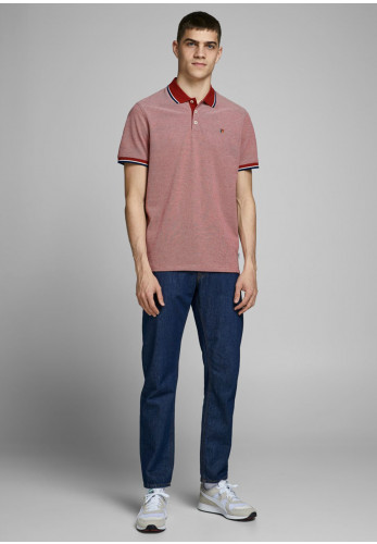Jack & Jones Bluwin Polo Shirt, Red Dahlia