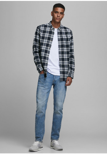 Jack & Jones Classic Check Shirt, Estate Blue