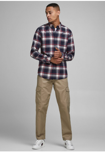 Jack & Jones Classic Check Shirt, Navy Blazer