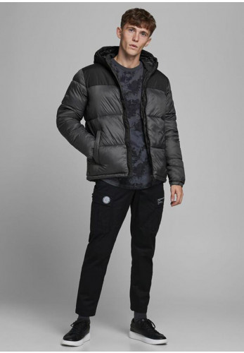 Jack & Jones Drew Puffer Jacket, Asphalt