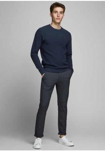 Jack & Jones Aaron Knit Crew Neck Sweater, Navy Blazer