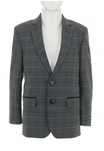 1880 Club Check Blazer, Grey