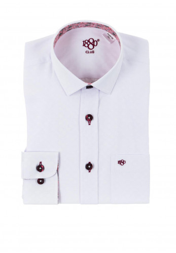 1880 Club Boys Cadiz Newton Flower Print Shirt, White Wine