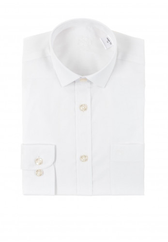 1880 Club Boys Toulon Newton Plain Shirt, White