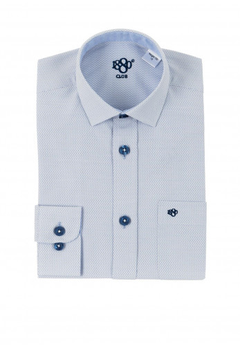1880 Club Boys Cadiz Newton Dot Print Shirt, Blue